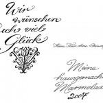 wir-wünschen-euch-viel-glück und beste wünsche als hochzeitseinladung-hand-geschrieben