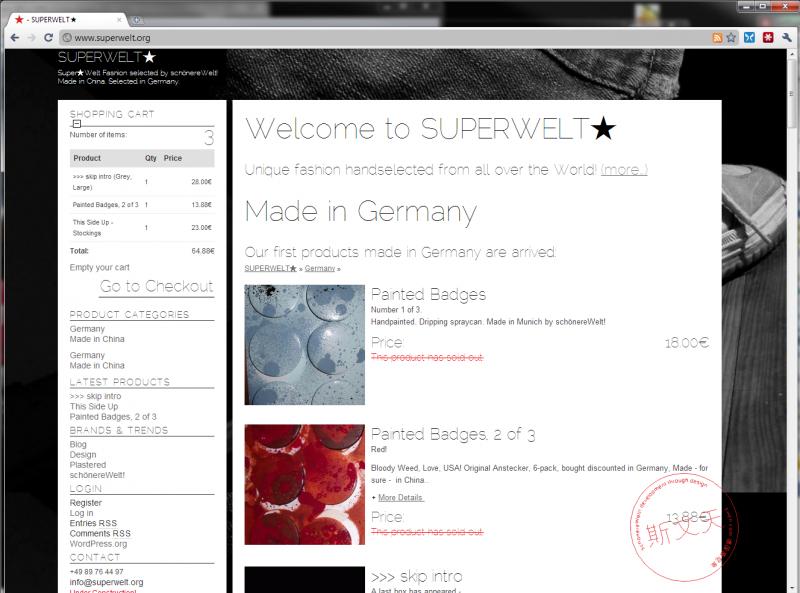 SUPERWELT.ORG Der erste Screenshot Standbild