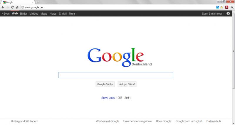 rest-in-peace-steve-jobs 1955-2011 auch auf google.de!