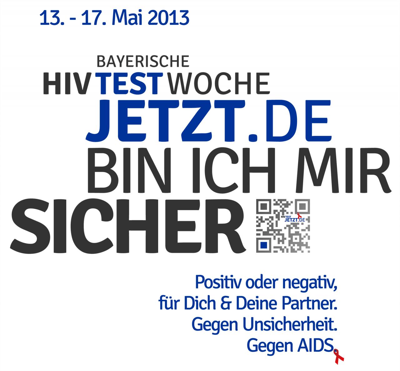 Test Jetzt! Logo und Hauptgrafik zur Kampagne zur Bayerischen HIV-Testwoche