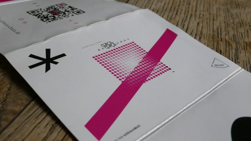 Chaca Chaca Programm Januar 2012 offen 1 Ausschnitte 69° Design mit Balken und Punkte Raster, angeschnittener Stern
