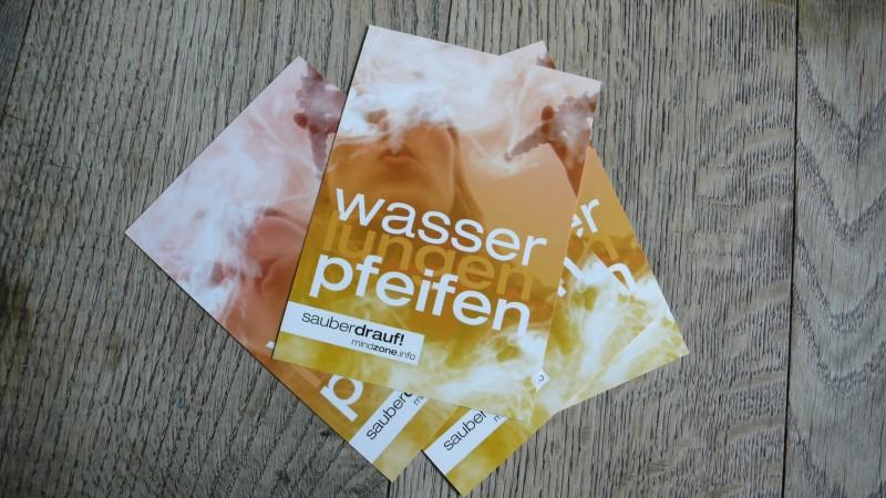 Booklet der Mindzone Kampagne - WASSERlungenPFEIFEN sauber drauf Flyer Stapel 1