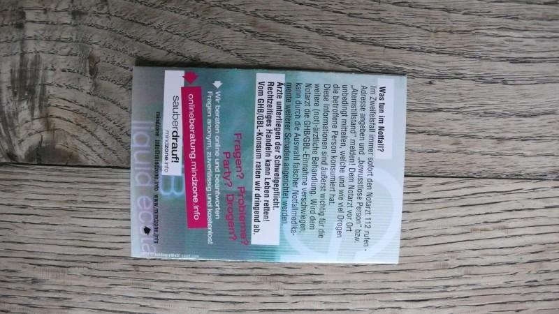 ghb-gbl liquid ecstasy booklet der kampagne fuer mindzone sauber drauf - back