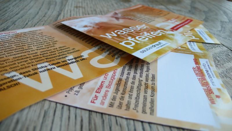 Booklet der Mindzone Kampagne - WASSERlungenPFEIFEN sauber drauf Flyer Stapel 2