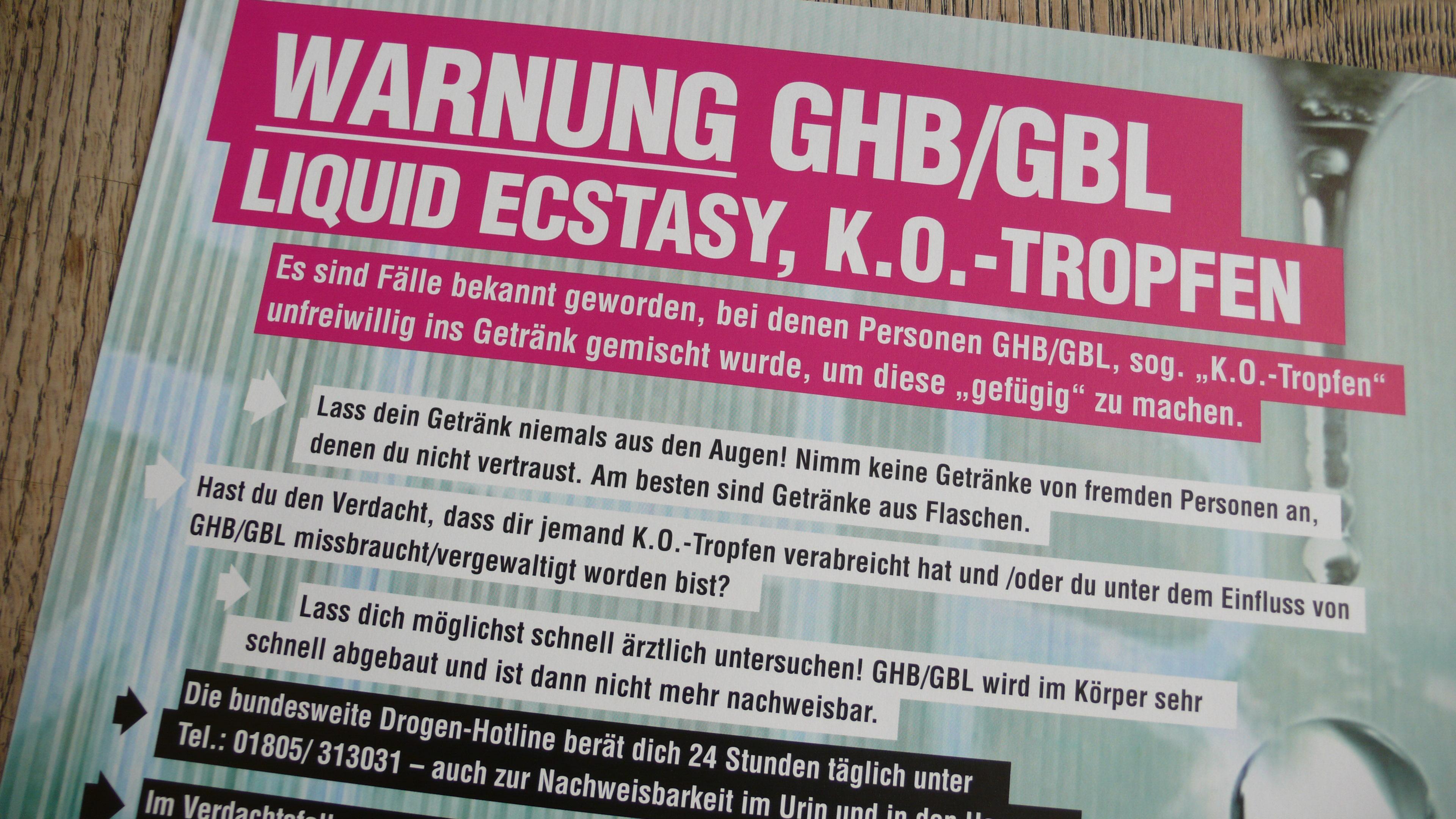 GHB _ GBL - Liquid Ecstasy / K.O.-Tropfen