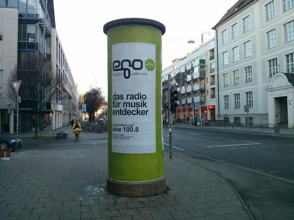 egoFM Litfasssaeulen All City in München von schönereWelt!
