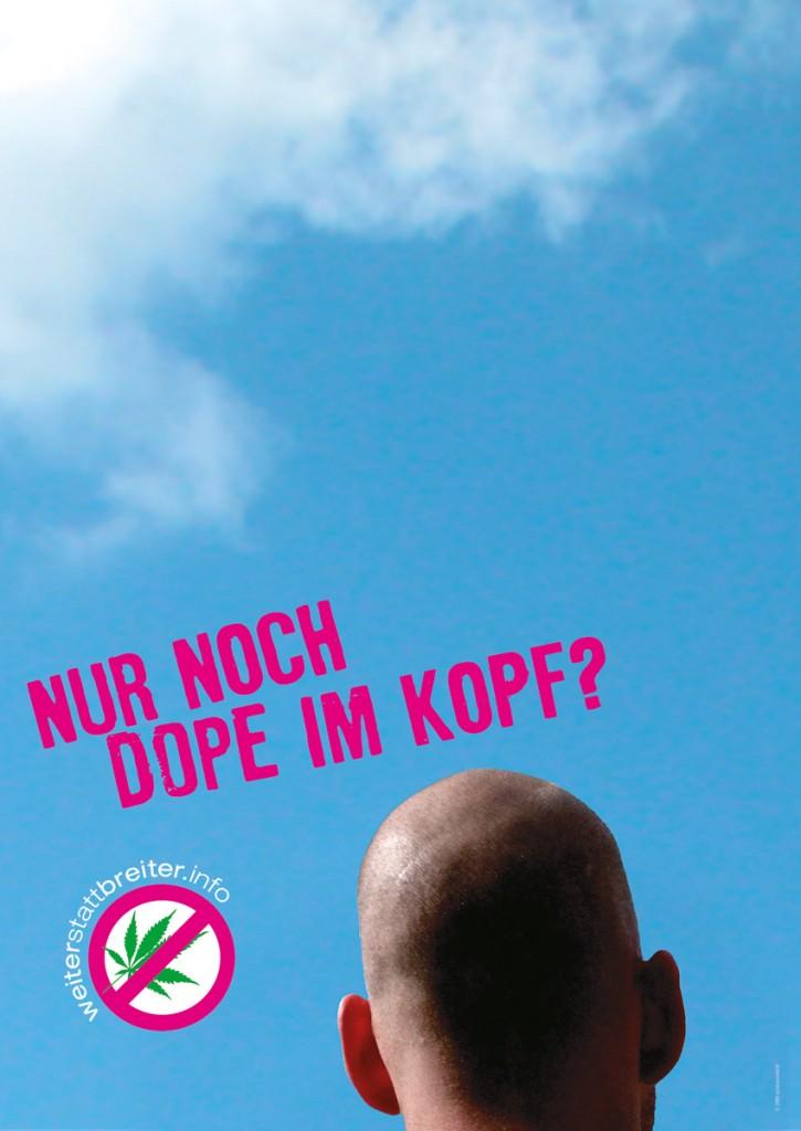 Mindzone-sauber-drauf-nur dope-im-kopf-Poster-850x1200px