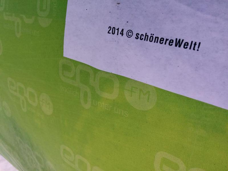 schönereWelt featuring egoFM Litfaßsäulen All City in München