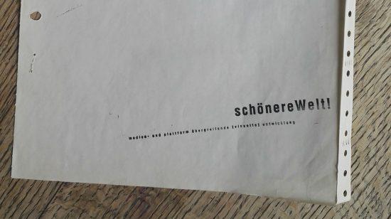 schönereWelt! corporate-stationary-design-letterhead-BRIEFPAPIER-2001-MatrixPrint-on-EndlessPaper