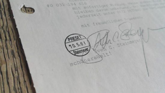 Stempel und Unterschrift - schönereWelt! corporate-stationary-design-letterhead-BRIEFPAPIER-2001-MatrixPrint-on-EndlessPaper