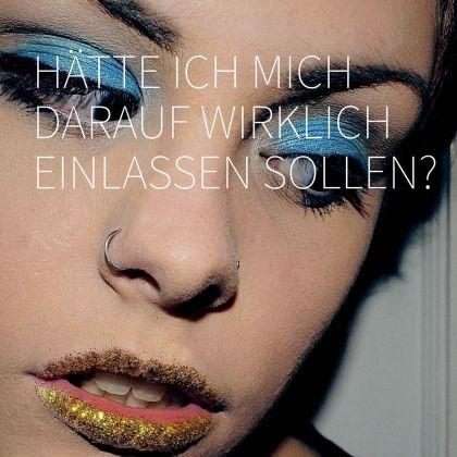 Ein nachdenkliche, hübsche Frau - das Hauptmotiv der bayerischen STi & HIV Kampagne Mit Sicherheit Besser