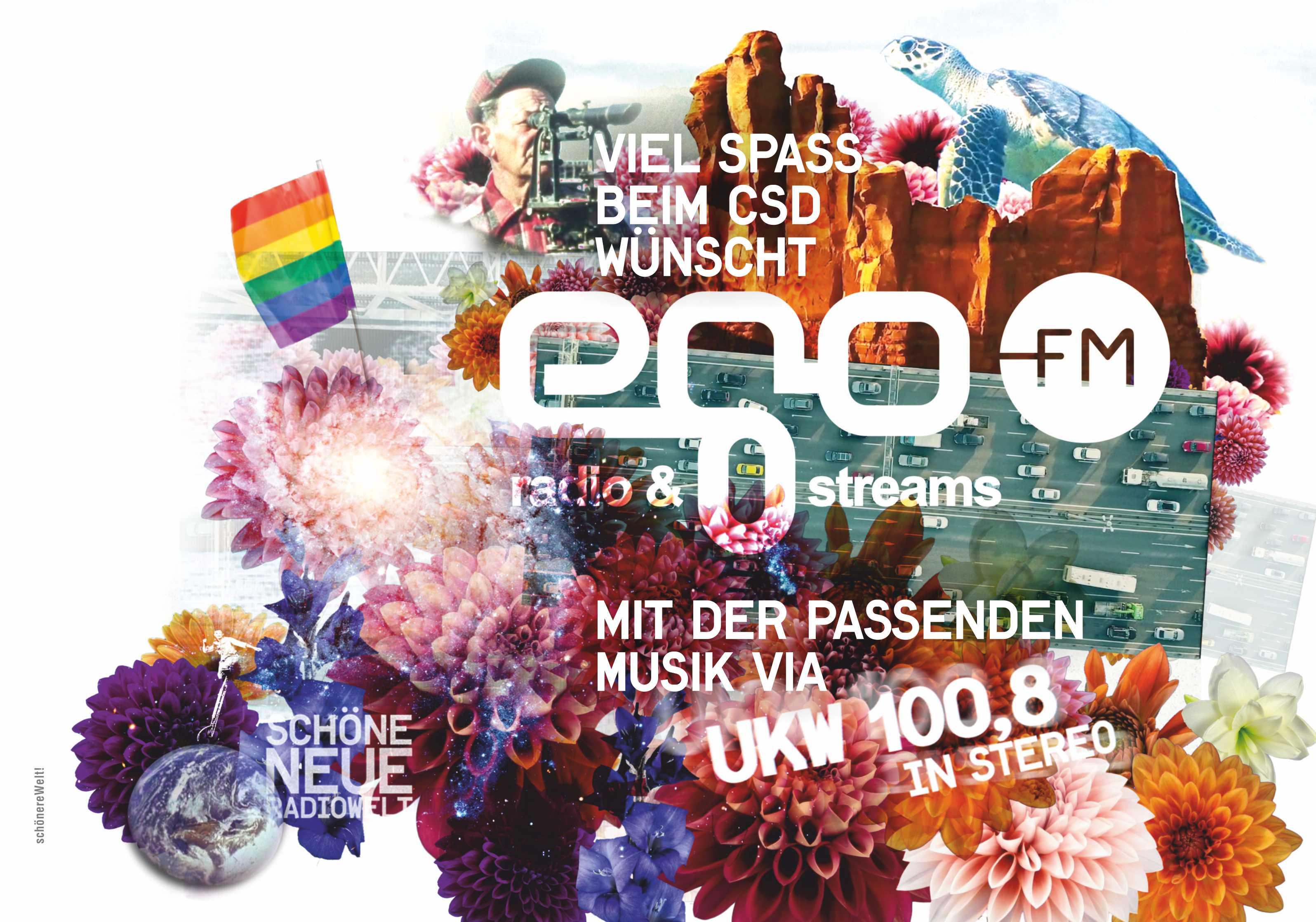 Anzeige für egoFM zum Cristopher Street Day CSD 2020 München Gay Pride Yeah!