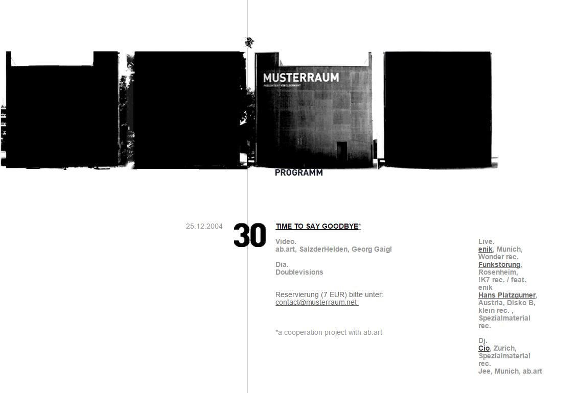 Programm Musterraum at Pinakothek der Moderne 2004-12