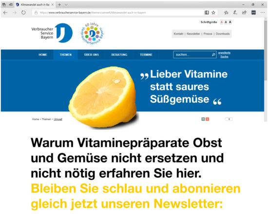 Mockup der Website verbraucherservice-bayern.de